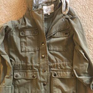 Khaki military army jacket utility jacket